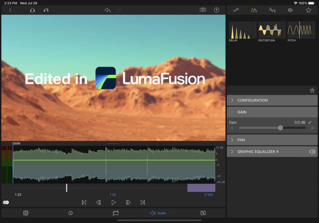 LumaFusion Audio Spectrum New User Interface 3.0